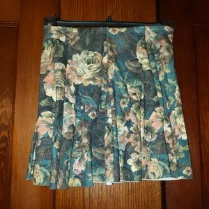 Zara Juniors Floral Skater Skirt